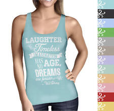 Laughter is Timeless Walt Disney Quote Ladies Tank Top - Sizes XS-5XL