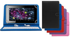 Premium Leather Finished Keyboard Tablet Flip Cover For Adcom Apad 741C