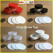 25 30 50 x 100 10ml BOTE ROSCA Top 4 TAPA COLORES contenedor Bálsamo labial