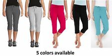Jockey Womens Slim Fit Capri- #1300  Lounge / Activewear -5 colors