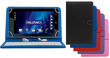 Premium Leather Finished Keyboard Tablet Flip Cover For Reliance 3G Tab V9A