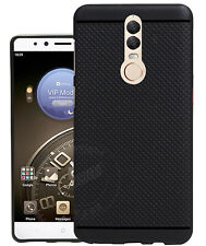 Dotted Design Soft Rubberised Back Case Cover For Micromax Canvas Dual 5 - Black