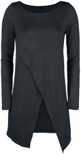 Forplay Long Asymetric Longsleeve  Manica lunga donna nero