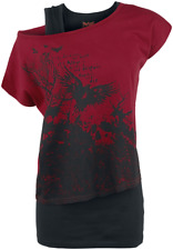 Black Premium by EMP Got My Mind Set On You Maglia donna nero/rosso
