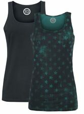 R.E.D. by EMP Stars Allover – Double Pack Top donna verde/nero