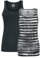 R.E.D. by EMP Ladies Top - Double Pack Top donna nero