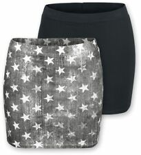 R.E.D. by EMP Ladies Skirts - Double Pack Gonna nero/grigio