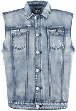 Black Premium by EMP Denim Vest Gilet blu