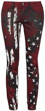 Rock Rebel by EMP Flag Pants (Slim Fit) Pantaloni donna bordeaux