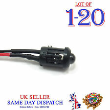 5mm 12V DC Light Emitter Bright Flashing Pre-Wired LED 20cm Cable + Holder