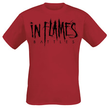 In Flames Battles Logo T-Shirt rosso