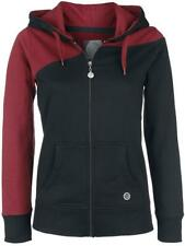 RED by EMP Two Tone Hoodie Felpa donna bordeaux/nero