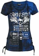 Rock Rebel by EMP Eyelet Lace Up Shirt Maglia donna nero/blu