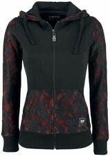 Black Premium by EMP Two-Tone Lace Hoodie Jacket Felpa con cerniera donna nero