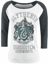 Harry Potter Slytherin - Quidditch Manica lunga donna bianco/grigio