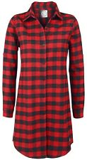 RED by EMP Checkered Oversize Shirt Camicia donna rosso/nero