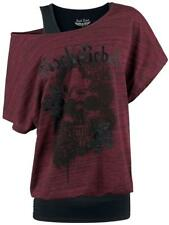 Rock Rebel by EMP Rose Rebel Double Layer Maglia donna rosso