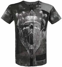 Black Premium by EMP Dark Skull Cut-Out T-Shirt nero/grigio
