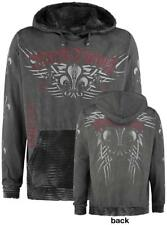 Rock Rebel by EMP Lilium Wings Longsleeve Felpa con cappuccio grigio