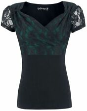 Gothicana by EMP Jeanne Maglia donna nero/verde