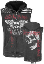 Rock Rebel by EMP Hoodie Vest Gilet grigio scuro
