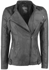 Rock Rebel by EMP Winged Skull Jacket Giacca donna grigio scuro