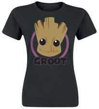 Guardians Of The Galaxy 2 - Baby Groot Face Maglia donna nero