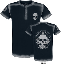 RED by EMP Embroidery Circle Skull Shirt T-Shirt nero