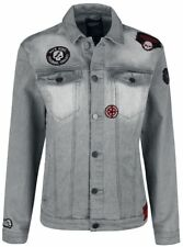Rock Rebel by EMP Skull Patch Jeans Jacket Giacca grigio