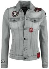 Rock Rebel by EMP Patched Jeans Jacket Giacca donna grigio