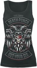 Five Finger Death Punch Biker Badge Top donna nero
