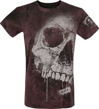 Black Premium by EMP Magic Skull T-Shirt grigio/rosso