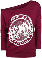 AC/DC High Voltage - Rock 'N' Roll Manica lunga donna bordeaux