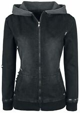 Forplay Destroyed Denim Jacket Giacca di jeans donna nero
