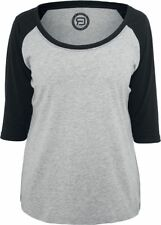 RED by EMP 3/4 Contrast Raglan Tee Manica lunga donna grigio/nero