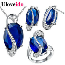 50% Off Jewelry Set Necklaces & Pendants Earrings Ring Crystal Jewellery New ...