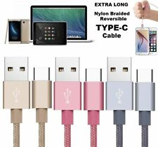 For S8 Braided Nylon Fast USB C 3.0 Type C Data Sync Charger Charging Cable Lead