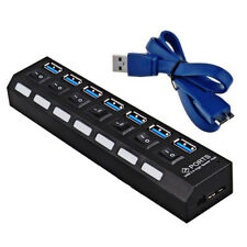 7 ports USB 2.0/ 3.0 HUB Power On/Off Switch High Speed Splitter Adapter Cable