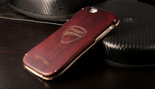 DUCATI Draco Aluminum Frame+Metal Wood Back Cover Case For Apple iPhone 5/5S/SE