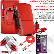 Quality Vertical Belt Pouch Phone Protection Case Cover✔Accessory Pack✔Red