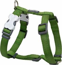 Red Dingo Plain GREEN Harness for Dog or Puppy   Sizes XS - LG   FREE P&P