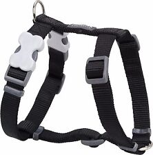 Red Dingo Plain BLACK Harness for Dog or Puppy   Sizes XS - LG   FREE P&P