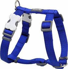 Red Dingo Plain BLUE Harness for Dog or Puppy   Sizes XS - LG   FREE P&P