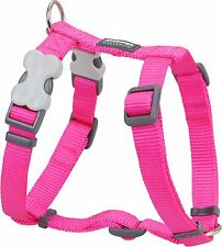 Red Dingo Plain HOT PINK Harness for Dog or Puppy   Sizes XS - LG   FREE P&P