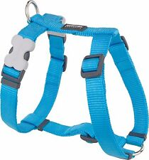 Red Dingo Plain TURQUOISE Harness for Dog or Puppy   Sizes XS - LG   FREE P&P