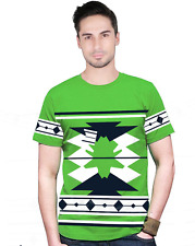 SlickFab Printed Round Neck Green T-Shirt for Men Casual Fit 100 %Cotton 180 GSM