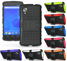 Heartly Flip Kick Stand Spider Armor Bumper Back CaseCover For LG Google Nexus 5