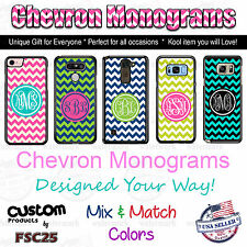Custom Chevron Monogram Personalized phone case for iPhone Samsung LG HTC Moto