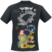 Game Of Thrones Westeros Sigils Map T-Shirt nero