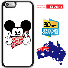 TPU Rubber Shockproof Bumper Case Cover Disney Mickey Mouse Middle Finger